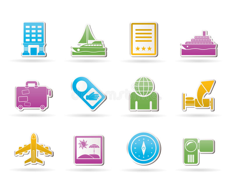 Download Travel, Vacation And Holidays Icons Stock Vector - Illustration: 20857399