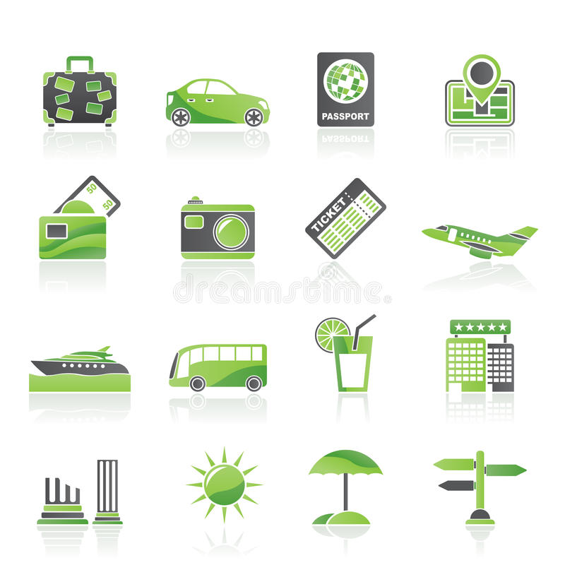 Download Travel and vacation icons stock vector. Image of passport - 24166088