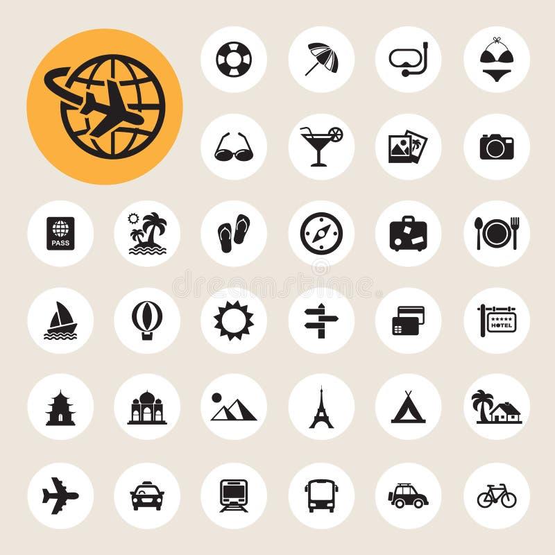 Travel and vacation Icons set. Illustration eps10 royalty free illustration