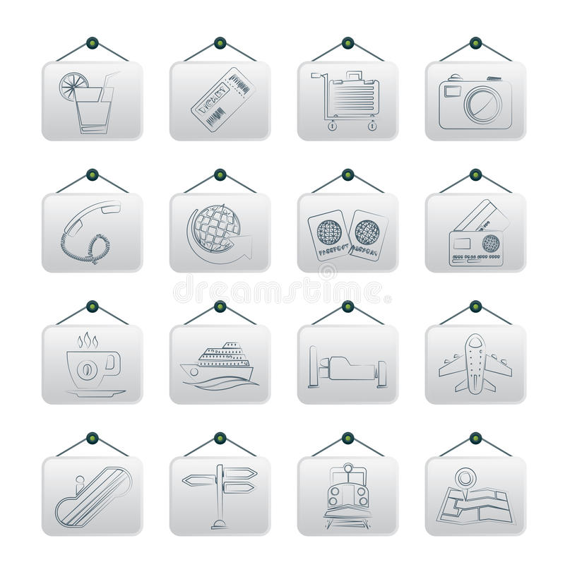 Download Travel And Vacation Icons Royalty Free Stock Image - Image: 29761766
