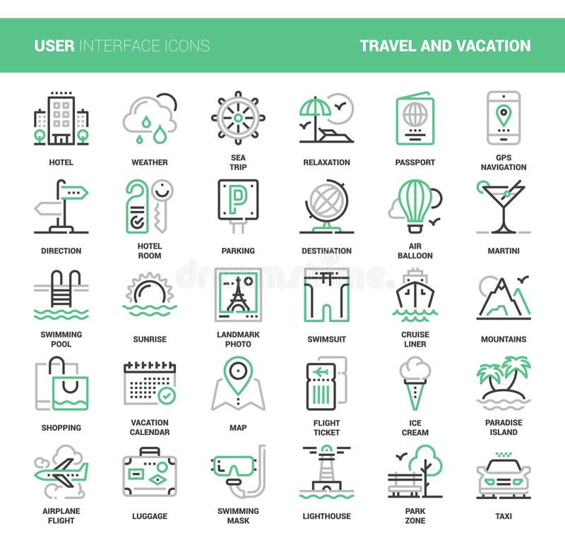 Travel and Vacation vector illustration