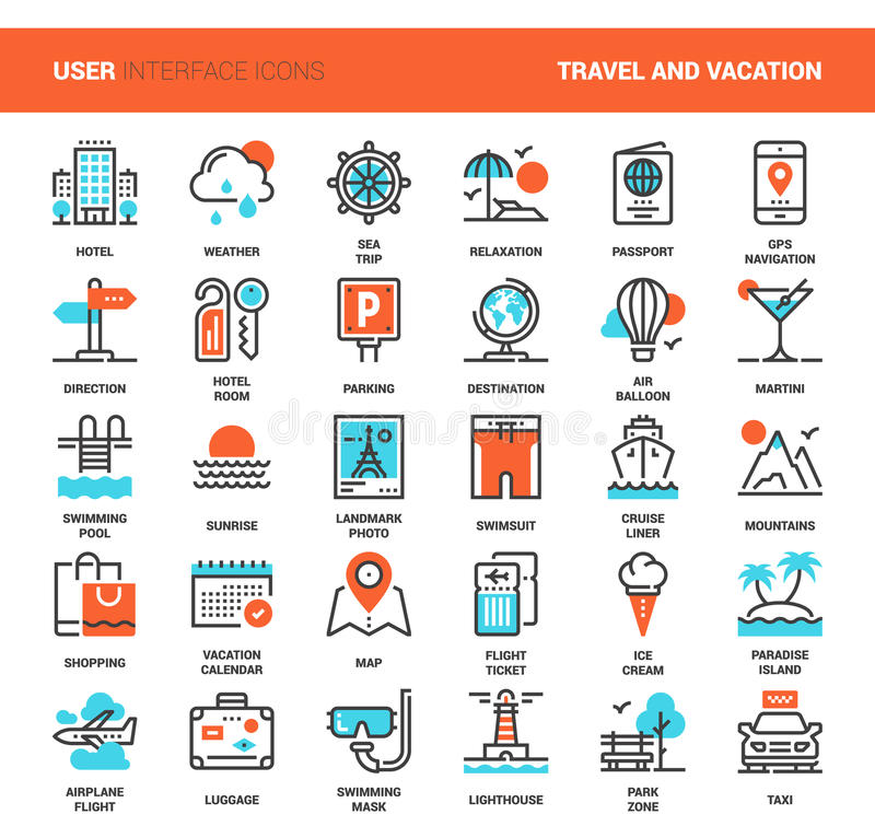 Travel and Vacation stock illustration