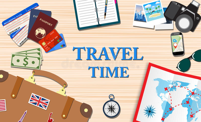 travel and vacations concept stock illustration