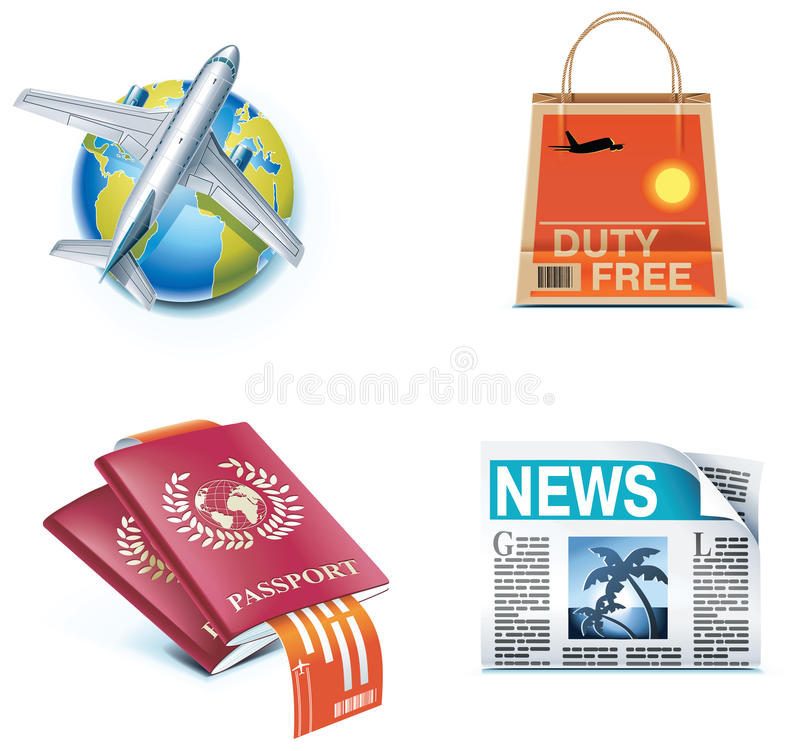 Download Travel And Vacations Icons. Part 1 Stock Vector - Image: 13828227