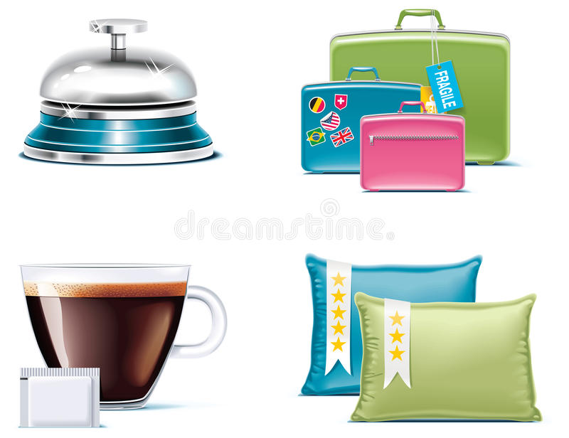 Travel And Vacations Icons. Part 4 Stock Photo