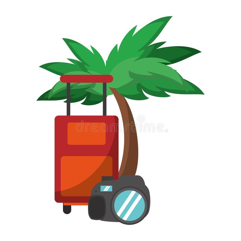 Luggage Tags Beach,Hammock Between Trees Travel Luggage Label
