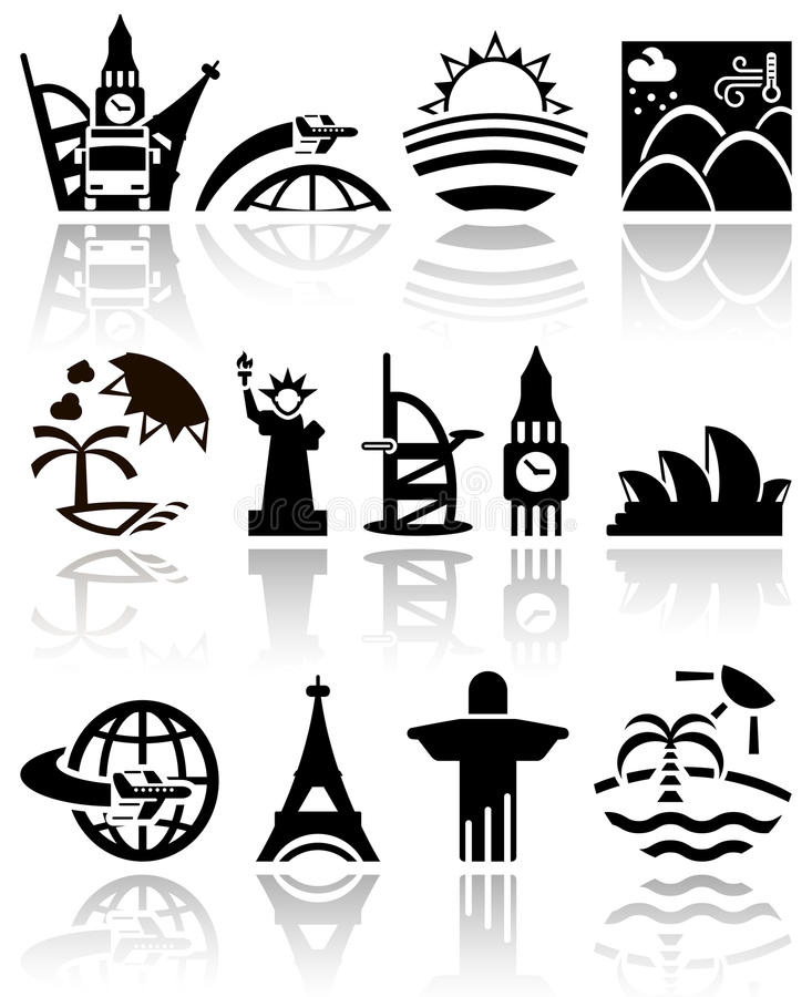 Download Travel vector icons set stock vector. Image of rest, concept - 36696757