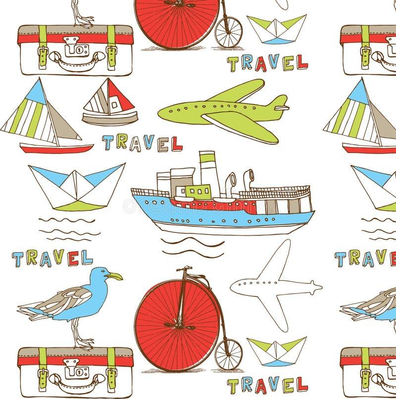 Travel wallpaper background stock illustration