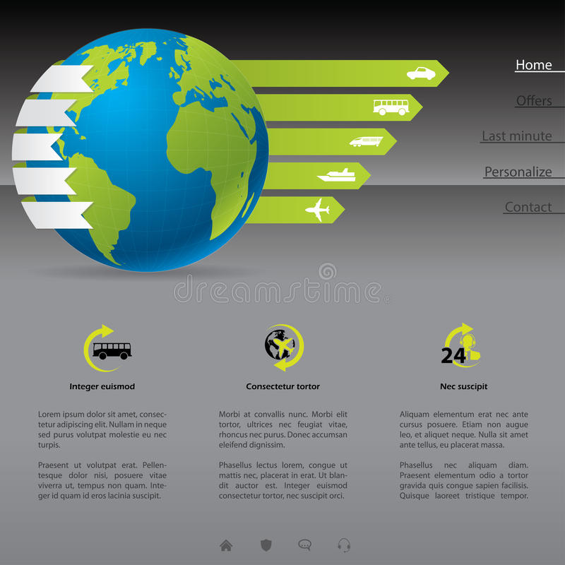 Download Travel website template stock vector. Image of company - 28658536