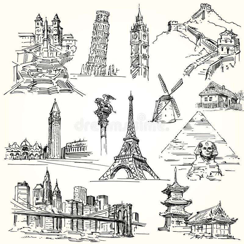 Travel the world vector illustration