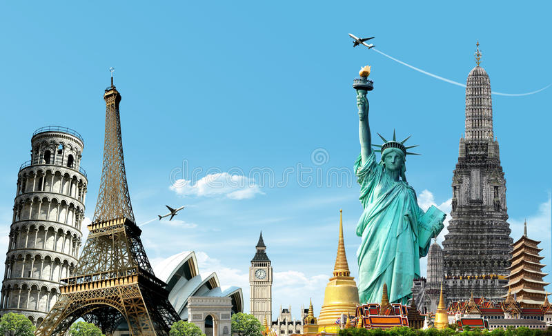 Travel the world stock images