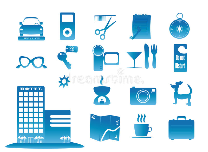 Download Travel1 stock vector. Image of icon, camcorder, collection - 8817828