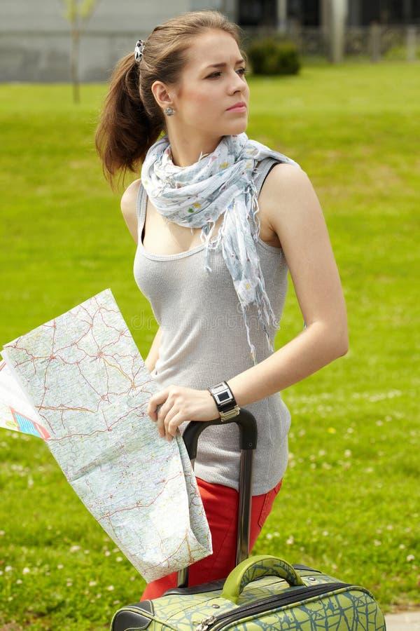 Traveler girl stock photos