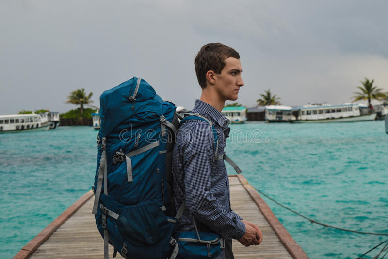 The traveler royalty free stock photos