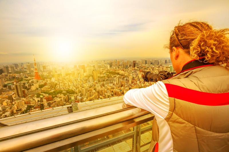 Travel Photographer in Japan royalty free stock image