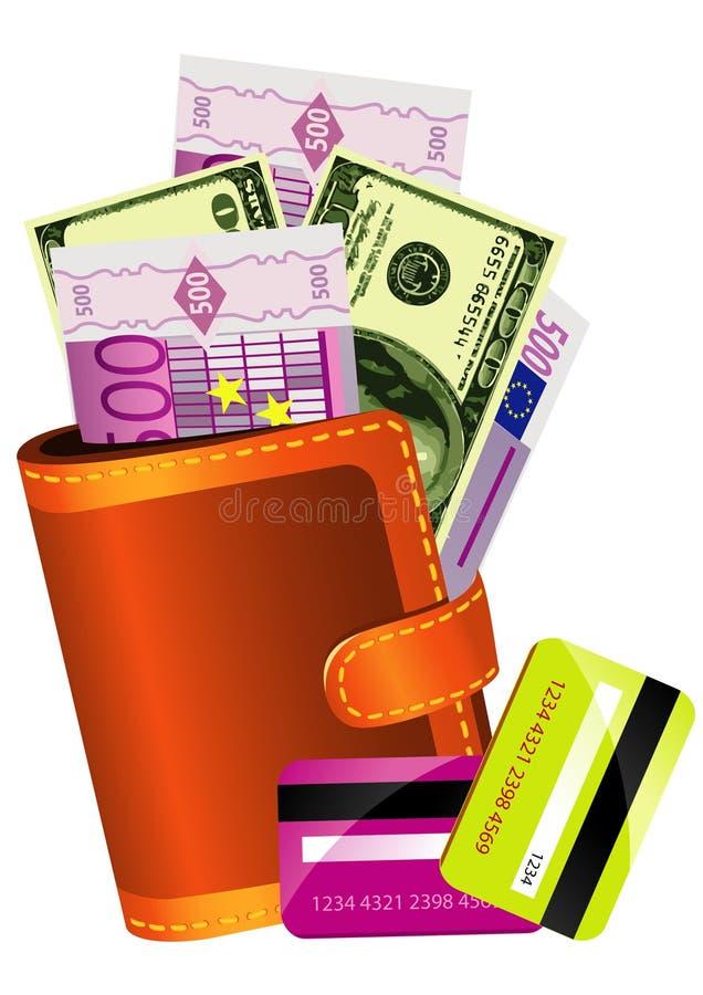 Traveler Wallet Purse Concept stock photos