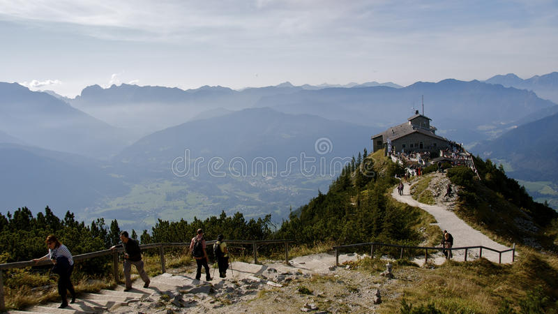Travelers at The Eagle's Nest royalty free stock photo