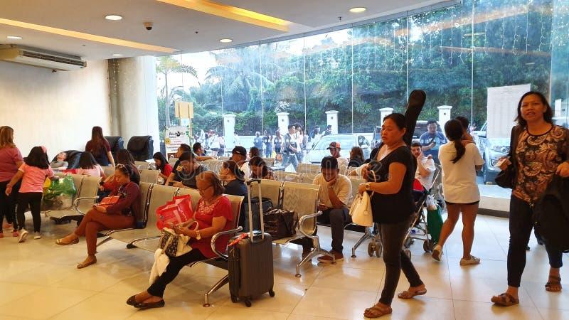 Travelers& x27; Lounge at SM City Cebu, Philippines stock photos