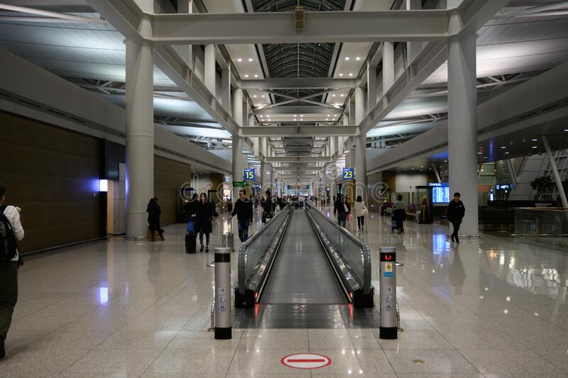 Boarding gates at Incheon airport in Seoul Korea royalty free stock images