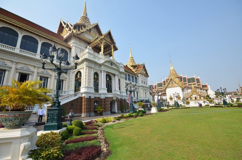 Travelers visit Chakri maha prasat hall royalty free stock photo