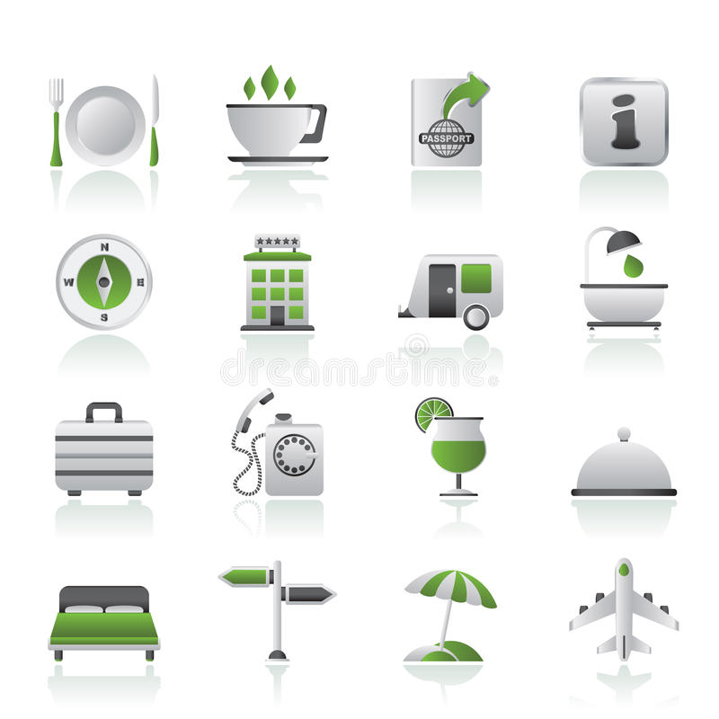 Free Traveling And Vacation Icons Stock Images - 26037634