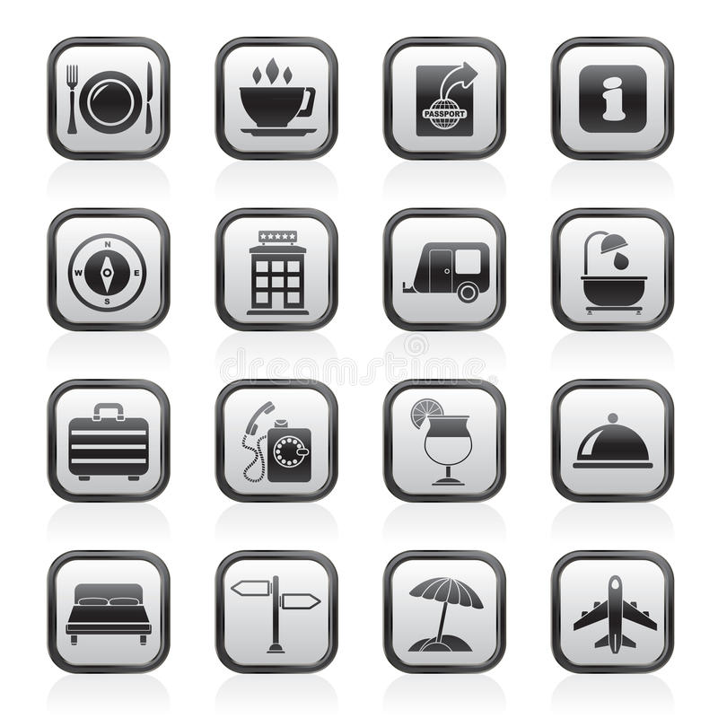 Free Traveling And Vacation Icons Royalty Free Stock Photography - 56717747