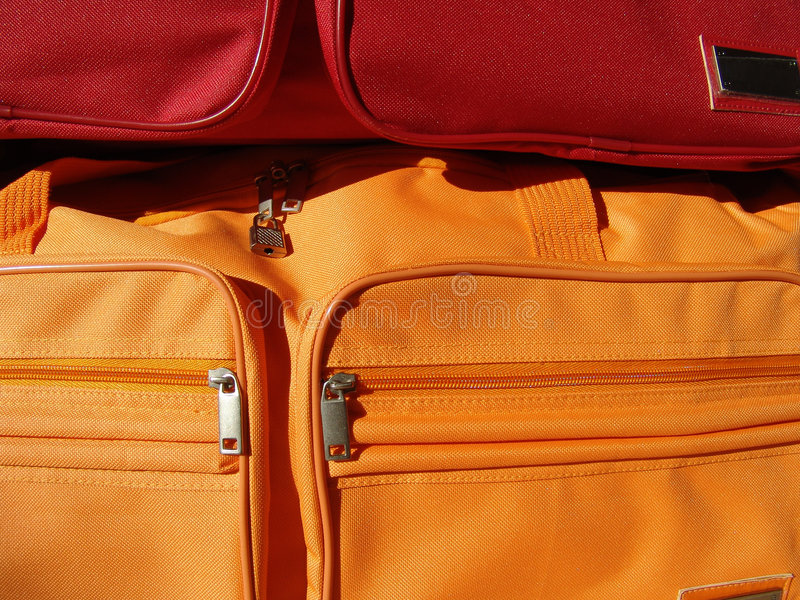 Traveling bags stock image