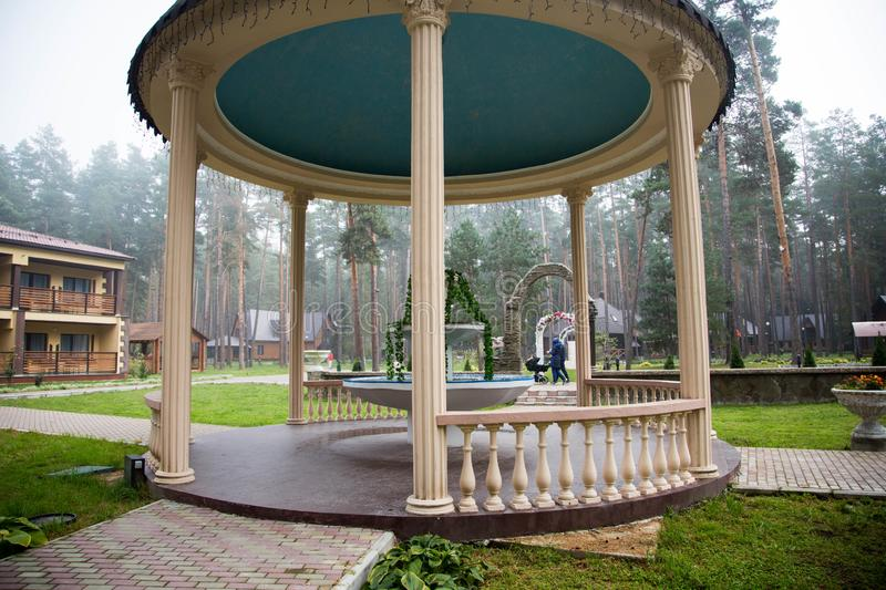 Traveling in Bryansk, you will see many amazing and beautiful places, and this is one of them!. Zhukovka, the nature is magnificent, forest, pines, sanatorium stock images