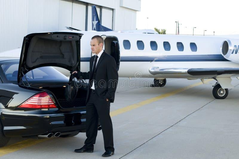 Traveling businessman stock photo