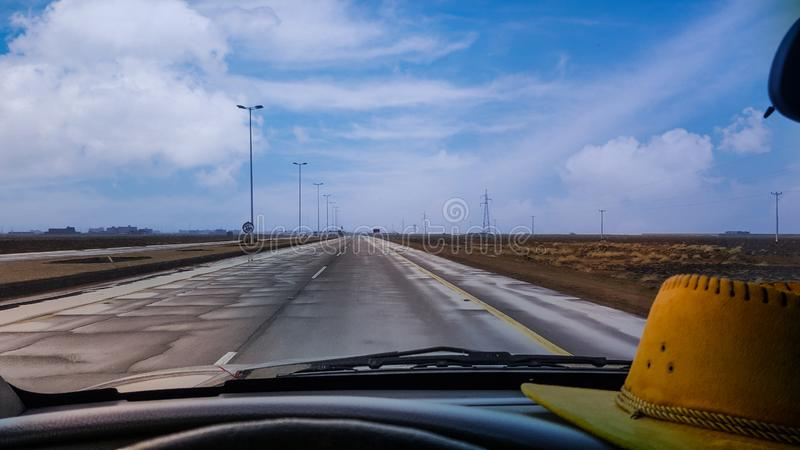 A highway in Saudi Arabia. royalty free stock photography