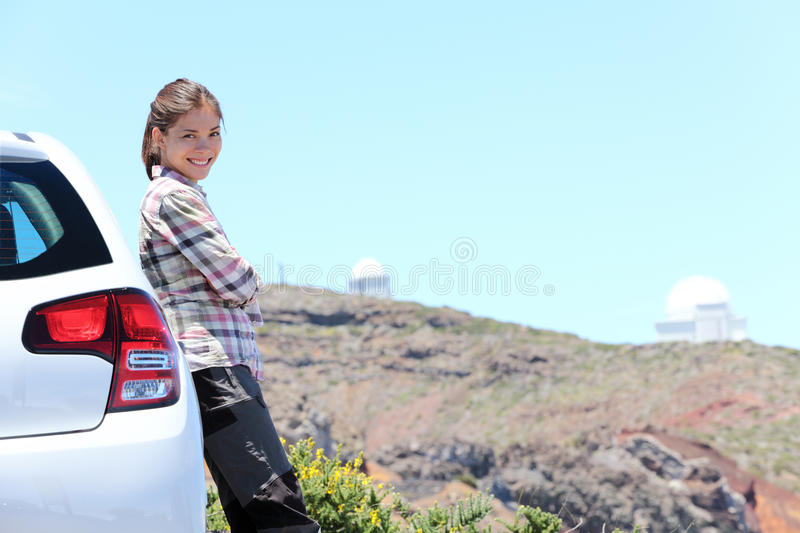 Traveling in car on La Palma stock photography