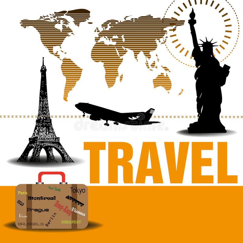 Download Traveling design stock vector. Image of image, artistic - 25877465