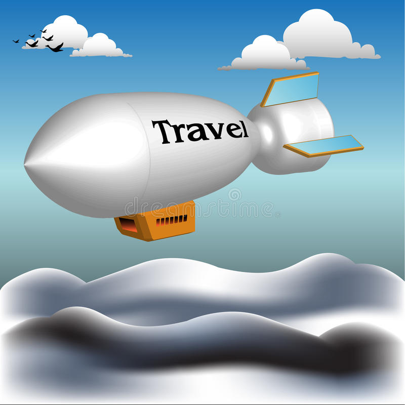 Traveling Dirigible Royalty Free Stock Image