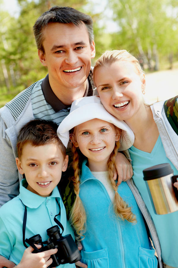 Traveling family stock images