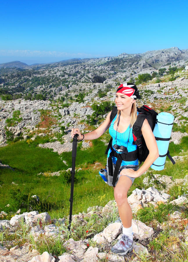 Download Traveling girl stock photo. Image of hike, activity, beautiful - 26905018