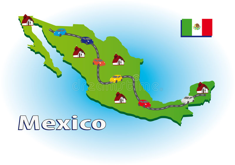 Download Traveling in Mexico stock vector. Image of flag, vacation - 6535191