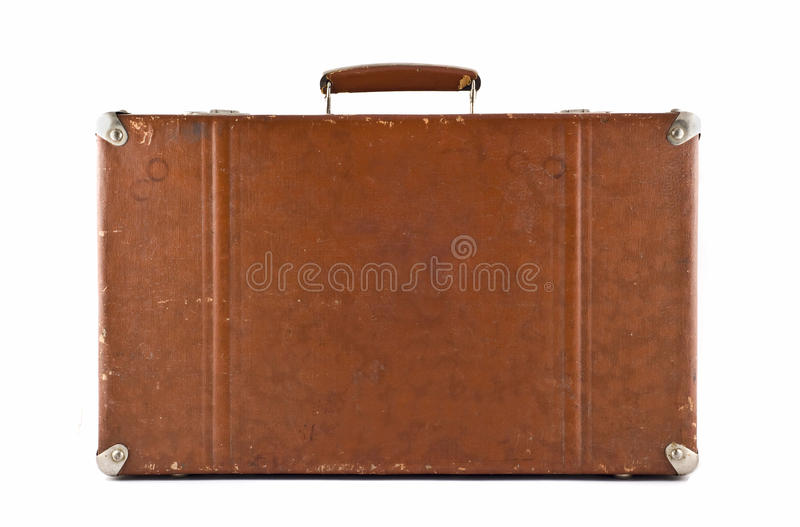 Download Traveling - Old-fashioned Suitcase Isolated Stock Photo - Image: 12148294