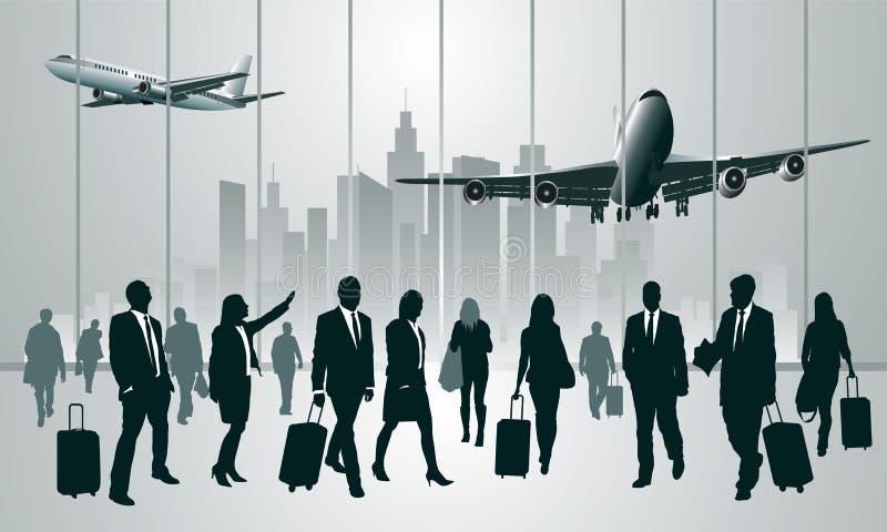 Traveling people stock illustration