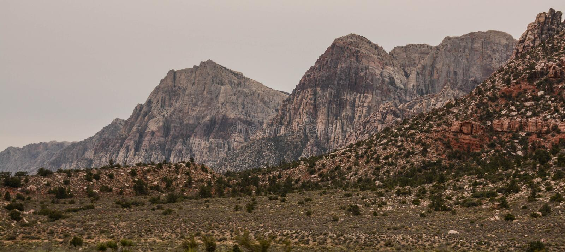 Traveling Through Red Rock Canyon stock image
