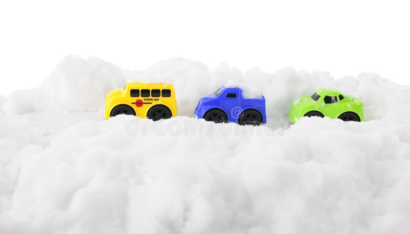 Traveling the Snowy High Road stock images
