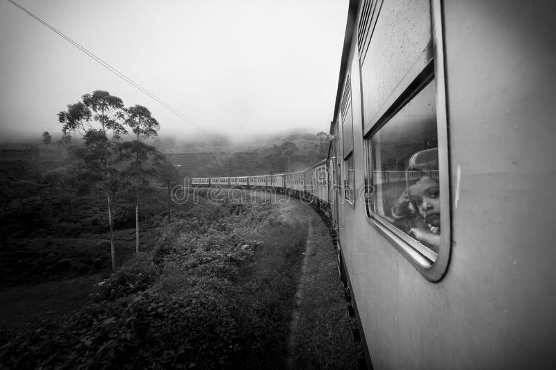 Traveling by train royalty free stock image