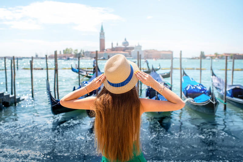 Traveling in Venice royalty free stock photography