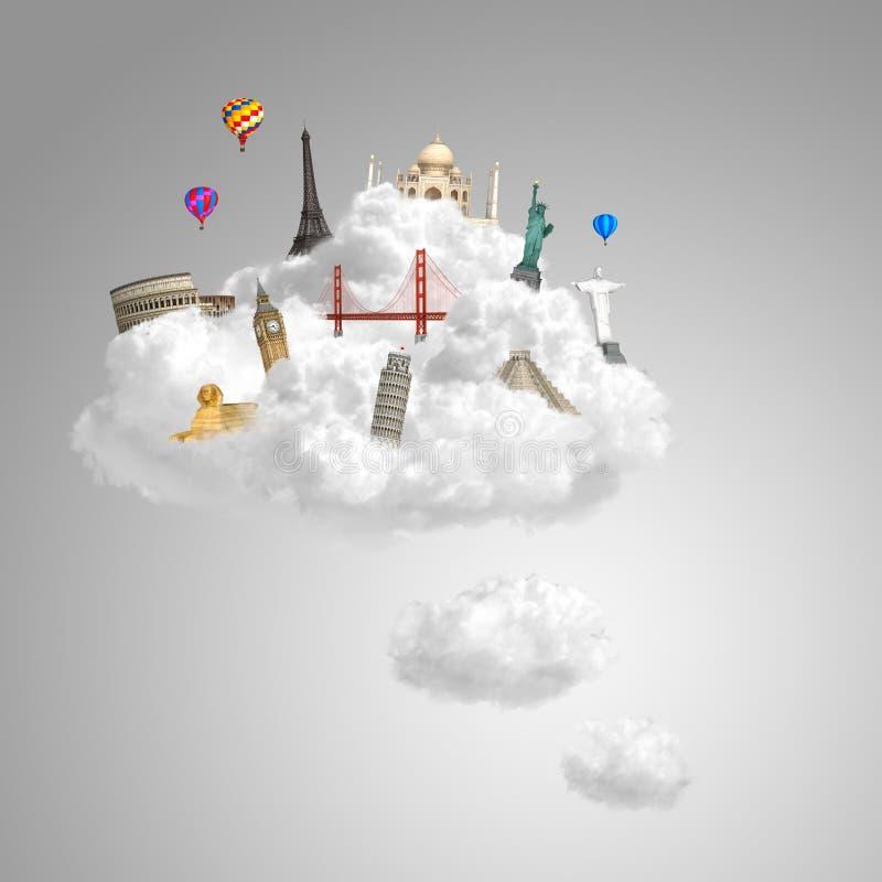 Download Traveling The World Dream Landmark Stock Illustration - Illustration: 25394917