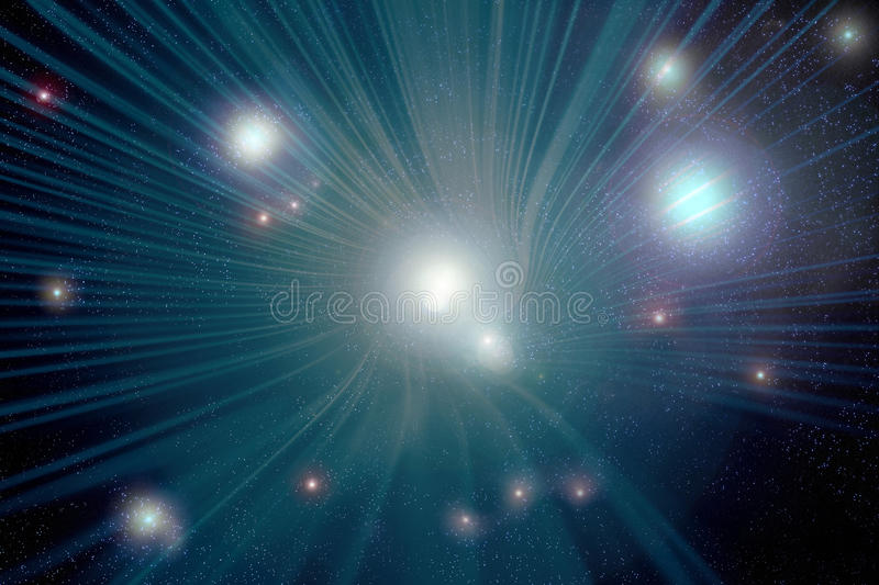 Traveling Through a Wormhole. A background depicting traveling through a wormhole in space royalty free illustration