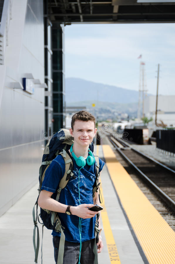 Traveling Youth - Anaheim, CA royalty free stock image