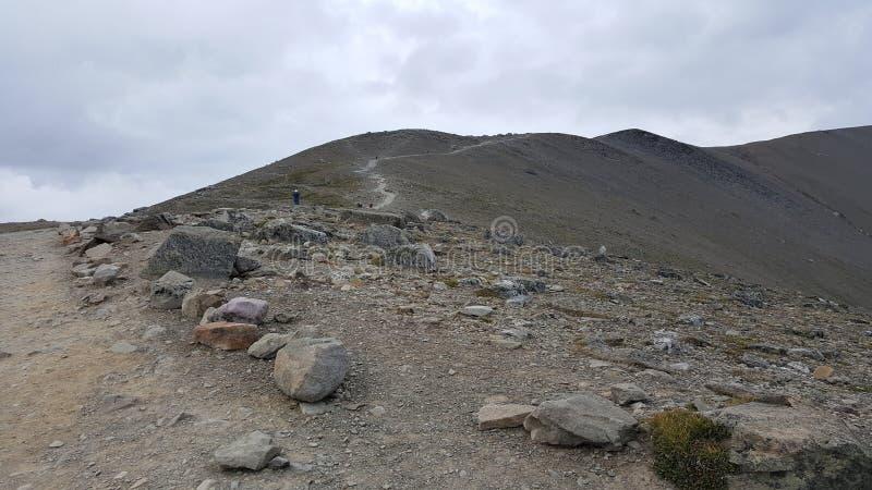 Travelled的路是峭壁 免版税图库摄影