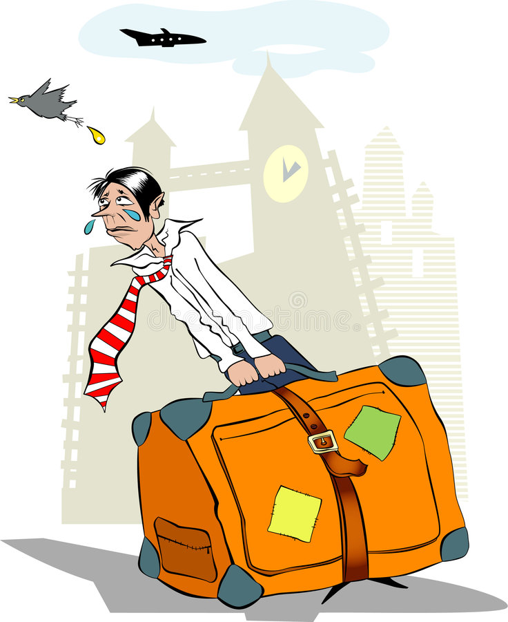 Download Traveller stock vector. Image of tourist, aeroplane, hold - 3450778