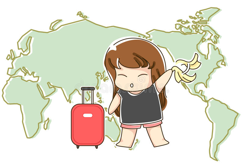 Download Travelling Around The World Stock Illustration - Image: 10344900