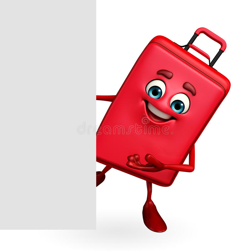 Download Travelling Bag Chatacter With Sign Stock Illustration - Image: 42520298