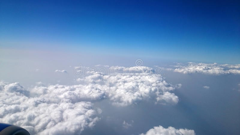 Travelling in clouds stock photos